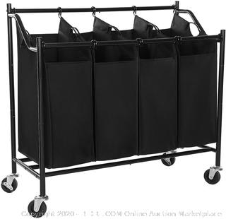 Songmics Heavy Duty laundry sorter storage cart with wheels (online $40)