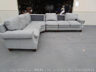 Gray Sectional Fabric Sofa