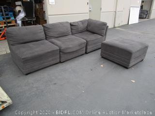 Gray Microfiber 1/2 a Sectional Couch