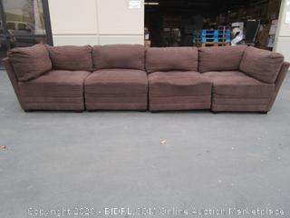 Brown Microfiber Sectional Couch (please preview)