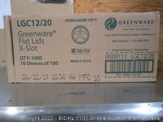 Greenware Flat Lids X Slot