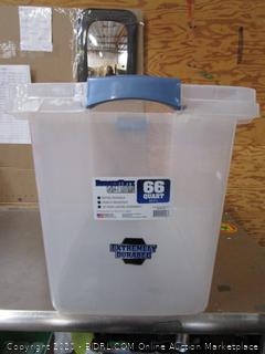 Rugged Tote clear container (66 quart)
