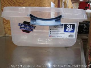 Rugged Tote clear container (31 Quart)