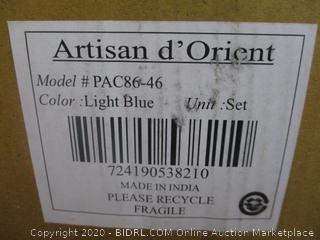 artisan d'Orient Light Blue Bowl Set see pictures