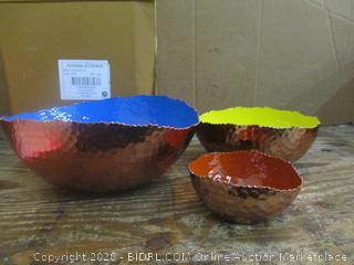 Artisan d' Orient mix bowl set see pictures
