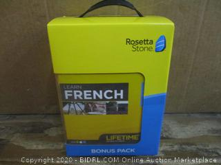 Rosetta Stone French Bonus Pack  Factory Sealed
