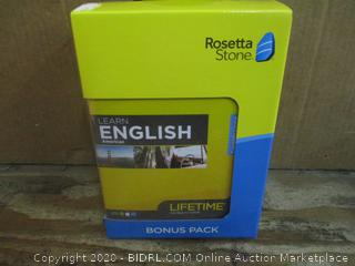 Rosetta Stone English Bonus Pack  factory sealed
