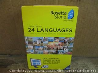 Rosetta Stone Learn one of 24 languages factory sealed