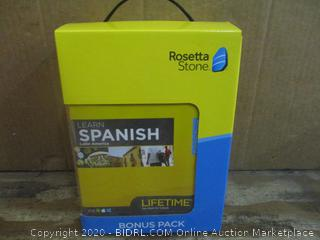 Rosetta Stone Spanish Bonus Pack Factory Sealed