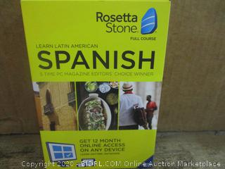 Rosetta Stone Spanish Factory Sealed