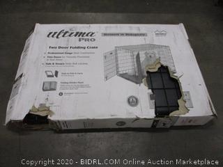 Two Door Folding Dog Crate (Box Damage)
