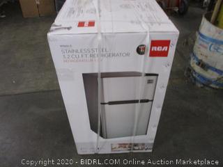 Stainless Steel 3.2 CU. FT. Refrigerator (Sealed) (Box Damage)