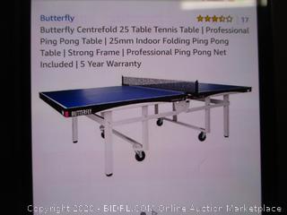 Table Tennis Table (Box Damage)