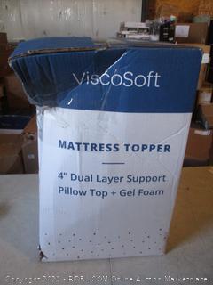 """4"""" Dual Layer Support Pillow Top + Gel Foam"""