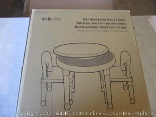 2-in-1 Round Activity Table & 2 Chairs