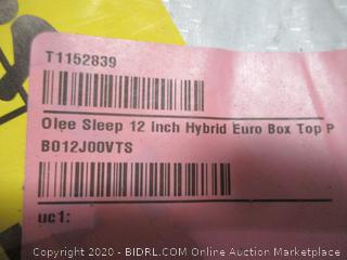 Olee sleep 12 inch Hybrid euro box topn Pillow  Mattress