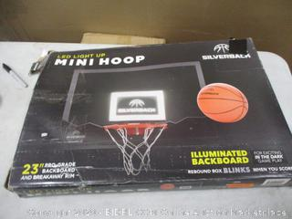 "Mini Hoop 25"" Pro-Grade Backboard and Breakaway Rim"