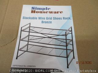 Stackable Wire Grid Shoe Rack