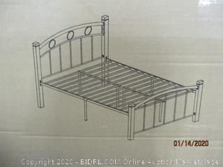 Metal Bed w/ Mahogany Wood Post Size Twin