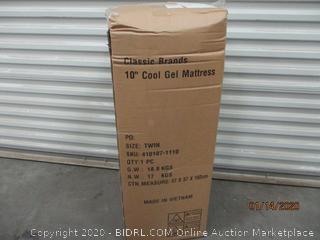 "10"" Cool Gel Mattress Size Twin (Factory Sealed)"