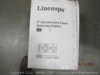 """3"""" Gel Memory Foam Mattress Topper Size Full"""