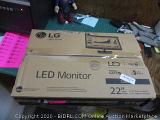 "LG LED Monitor 2"" See Pictures"