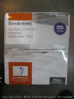 Brookstone Quilted Comfort Heated Mattress Pad