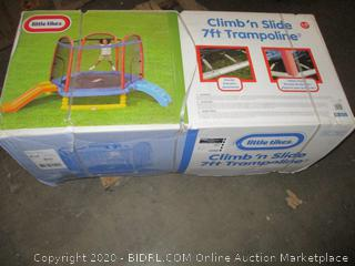 Little tikes Climb n Slide 7ft trampoline