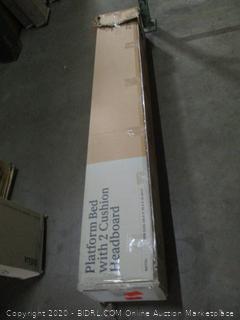 Zinus Platform Bed with 2 Cushion Headboard queen