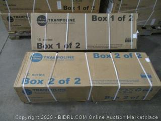 Trampoline Box 1 and 2 Complete set 16 foot round