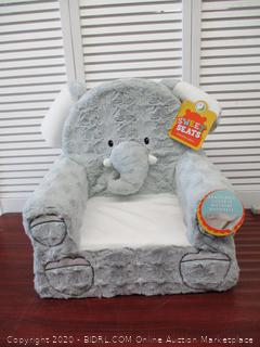 Sweet Seats  Grey Elephant Children's Chair  Large Size  Machine Washable Cover