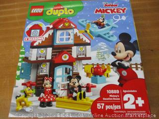 LEGO DUPLO Disney Mickey's Vacation House 10889 Toy House Building Set for Toddlers with Minnie Mouse, Goofy, Pluto and Mickey Mouse Figures