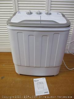 Portable Washing Machine Twin Tub Washer Machine with Wash and Spin Cycle Compartments