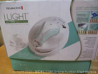 Remington iLIGHT Ultra Face & Body At-Home IPL Hair Removal System, Permanent Results (Retail $350)