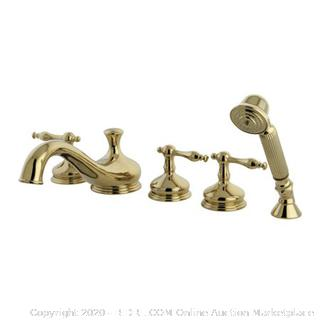Kingston Brass Roman Three Handle Roman Tub Filler with Hand Shower (online $512)