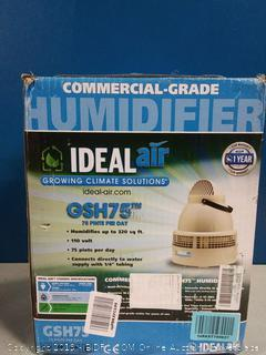 Ideal Air Humidifier - Commercial Grade - 75 Pints(powers on) online $298