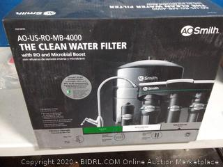 A.O. Smith Clean Water Filter with RO and Microbial Boost Brushed Nickel Faucet (online $249)
