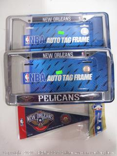 License Plate Frame and Pennant Flag