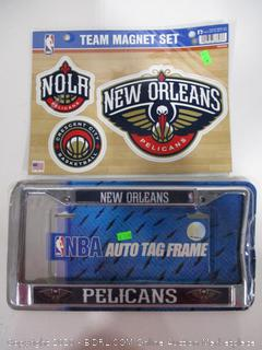 License Plate Frame and Decals