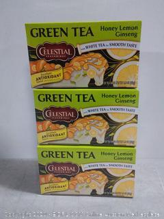Celestial Seasonings green tea honey lemon ginseng 3pak