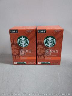 Starbucks breakfast blend sweet orange and brown sugar medium roast ground coffee K-Cups
