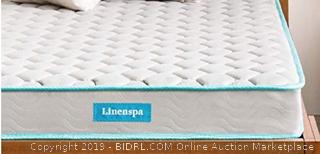 TWIN - LINENSPA twin 6 Inch Innerspring Mattress (Online $80)