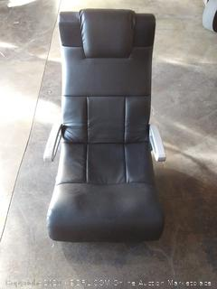 X rocket black leather gaming chair(Powers on)