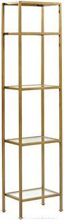 Crosley Furniture Aimee Narrow Etagere Bookcase - Gold (online $151)