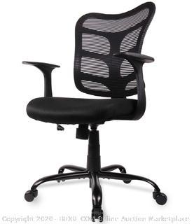 black mesh chair smugdesk ergonomic adjustable armrest (online $90)