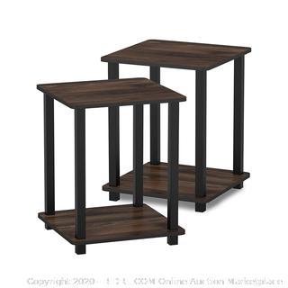 Simplistic End Tables, Columbia Walnut/Black 2