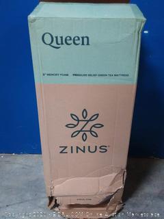 zinus 8 inch Memory Foam pressure relief green tea mattress Queen (online $224)