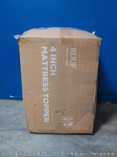Ruuf 4 inch mattress topper Queen (online $216)
