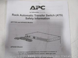 APC Rack Automatic Transfer Switch