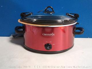 Crock Pot SCCPVL600-R 6QT RED Oval Crock Pot